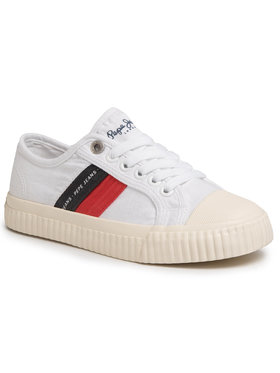 Pepe Jeans Pepe Jeans Sneakers Malibu Junior PBS30427 Blanc