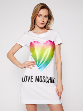LOVE MOSCHINO LOVE MOSCHINO Rochie de zi W592914M 3876 Alb Regular Fit