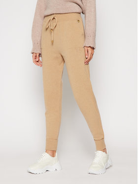 TwinSet TwinSet Teplákové kalhoty 202TT3014 Hnědá Regular Fit
