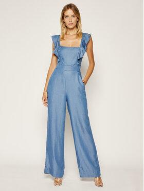 Guess Guess Overal Glad Jumsuit W0GK2K D3ZW3 Modrá Skinny Fit