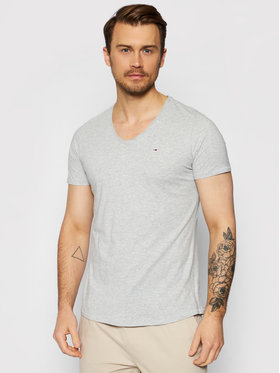 Tommy Jeans Tommy Jeans T-Shirt Jaspe DM0DM09587 Šedá Slim Fit