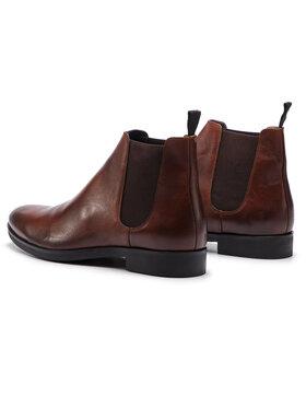 Togoshi Togoshi Kotníková obuv s elastickým prvkem TG-12-02-000063 Hnědá