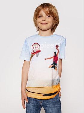 Desigual Desigual Marškinėliai Dante 21SBTK02 Mėlyna Regular Fit