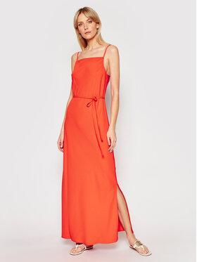 Calvin Klein Calvin Klein Sukienka letnia Cami K20K201839 Pomarańczowy Regular Fit