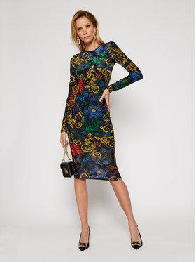 Versace Jeans Couture Versace Jeans Couture Koktejlové šaty D2HZB426 Farebná Slim Fit