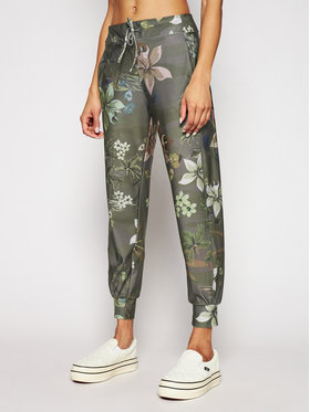 Desigual Desigual Kalhoty z materiálu Cropped Camo 21SOPK02 Zelená Regular Fit