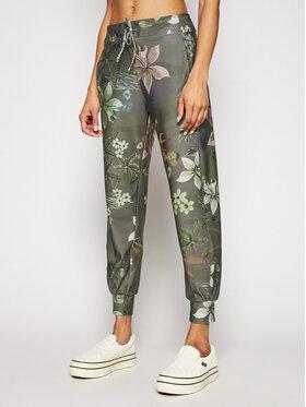 Desigual Desigual Παντελόνι υφασμάτινο Cropped Camo 21SOPK02 Πράσινο Regular Fit