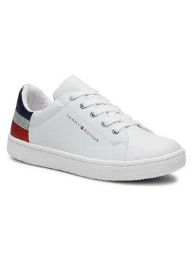 Tommy Hilfiger Tommy Hilfiger Sneakersy Low Cut Lace-Up T3A4-31019-1161 S Biały