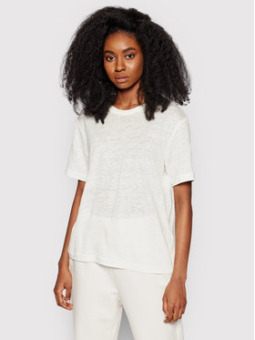Samsøe Samsøe Samsøe Samsøe Tricou Doretta F20300138 Alb Relaxed Fit