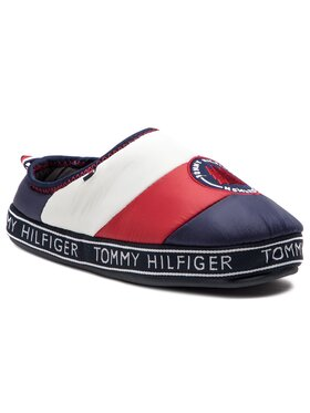 TOMMY HILFIGER TOMMY HILFIGER Naminės šlepetės Mountain Patch Downslipper FM0FM02005 Tamsiai mėlyna