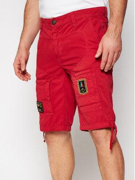 Aeronautica Militare Aeronautica Militare Bavlnené šortky 211BE041CT1122 Červená Regular Fit