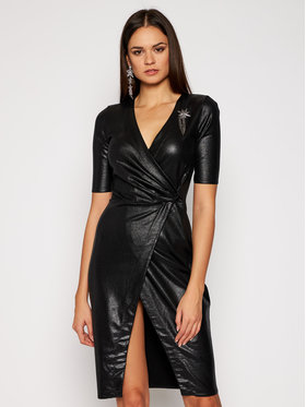 Pinko Pinko Koktejlové šaty Punire AI2021 BLK01 1G15EP Y5PC Čierna Slim Fit