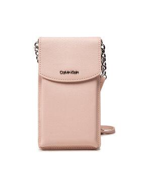 Calvin Klein Calvin Klein Pouzdro na mobil Ck Must Phone Pouch Xbody K60K608246 Růžová