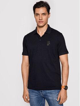 KARL LAGERFELD KARL LAGERFELD Тениска с яка и копчета 745024 511223 Тъмносин Regular Fit