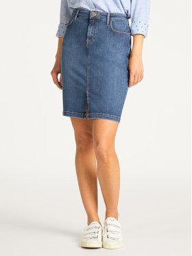 Lee Lee Džínsová sukňa Pencil L38GMHQD Tmavomodrá Slim Fit