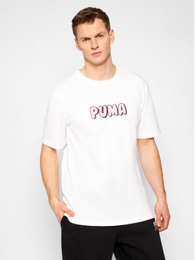 Puma Puma T-Shirt Downtown Graphic 530899 Weiß Loose Fit