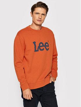 Lee Lee Pulóver Basic Crew Logo L80XTJBH Narancssárga Regular Fit