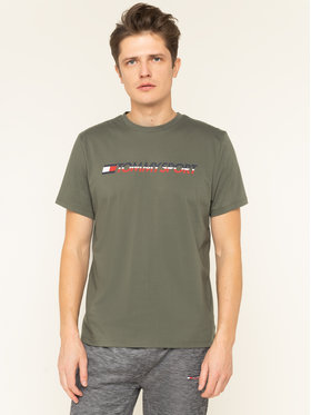 Tommy Sport Tommy Sport T-shirt Logo Chest S20S200051 Zelena Regular Fit