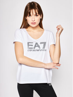 EA7 Emporio Armani EA7 Emporio Armani T-Shirt 3HTT39 TJ12Z 1100 Λευκό Regular Fit