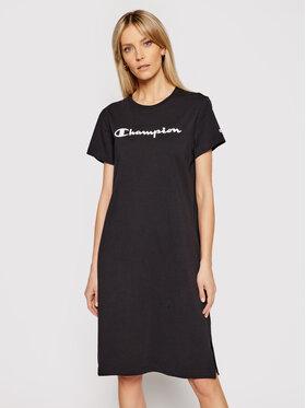 Champion Champion Každodenné šaty Rubber Script Logo 112609 Čierna Regular Fit