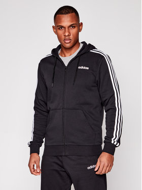 adidas adidas Μπλούζα Essentials 3 Stripes DQ3102 Μαύρο Regular Fit