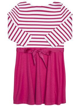 Polo Ralph Lauren Polo Ralph Lauren Sukienka codzienna Stripe Solid 313720091001 Różowy Regular Fit