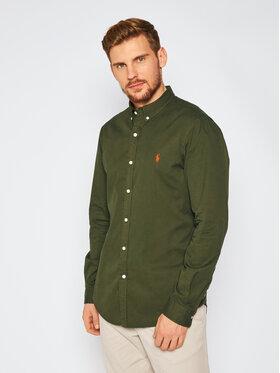 Polo Ralph Lauren Polo Ralph Lauren Marškiniai Slbdppcs 710815558006 Žalia Slim Fit