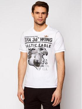 Aeronautica Militare Aeronautica Militare T-shirt 211TS1855J513 Bijela Regular Fit