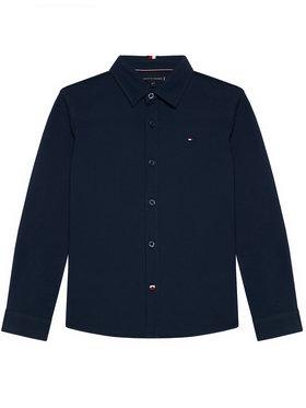 Tommy Hilfiger Tommy Hilfiger Cămașă Stretch Pique Shirt KB0KB06332 M Bleumarin Regular Fit