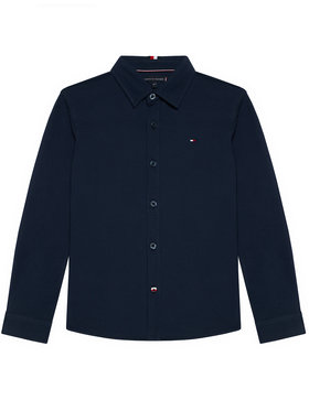 Tommy Hilfiger Tommy Hilfiger Koszula Stretch Pique Shirt KB0KB06332 Granatowy Regular Fit