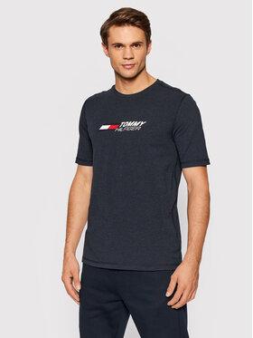 Tommy Hilfiger Tommy Hilfiger T-Shirt Logo MW0MW21098 Granatowy Regular Fit