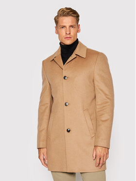 Roy Robson Roy Robson Cappotto di lana 5980-98 Marrone Slim Fit