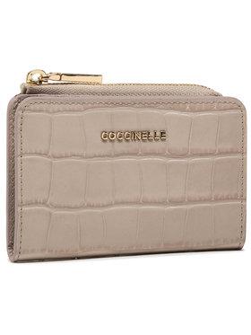 Coccinelle Coccinelle Mały Portfel Damski HW6 Metallic Croco Shiny Soft E2 HW6 17 01 01 Beżowy