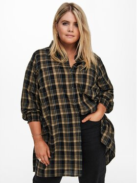 ONLY Carmakoma ONLY Carmakoma Camicia Fie 15242011 Marrone Loose Fit
