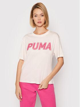 Puma Puma T-Shirt Modern Sports Logo 581229 Růžová Relaxed Fit