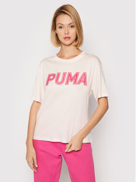 Puma Puma Tričko Modern Sports Logo 581229 Ružová Relaxed Fit