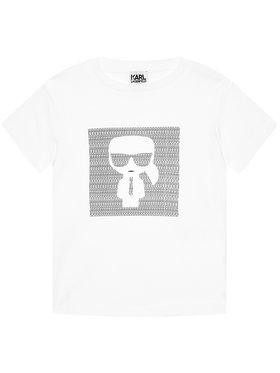 KARL LAGERFELD KARL LAGERFELD T-Shirt Z25277 M Biały Regular Fit