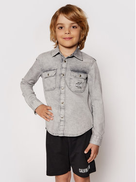Calvin Klein Jeans Calvin Klein Jeans Ing Cloud Washed Shirt IB0IB00708 Szürke Regular Fit