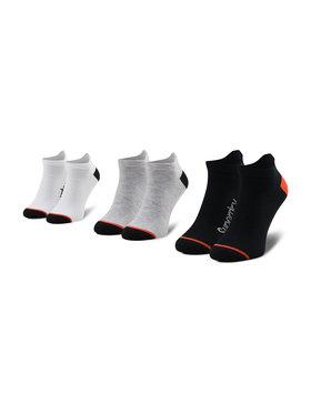 Superdry Superdry Set de 3 perechi de șosete medii pentru bărbați Cool Max Ankle MS400009A Negru