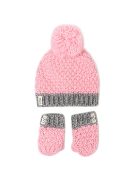 Ugg Ugg Ensemble bonnet + gants K Infant Knit Hat And Mitt Set 18802 Rose