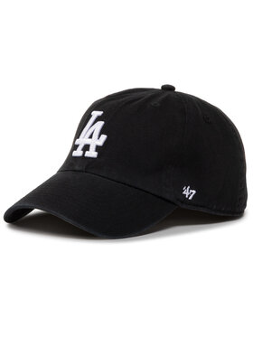 47 Brand 47 Brand Шапка с козирка Mlb Los Angeles Dodgers '47 Clean Up B-RGW12GWS-BKJ Черен