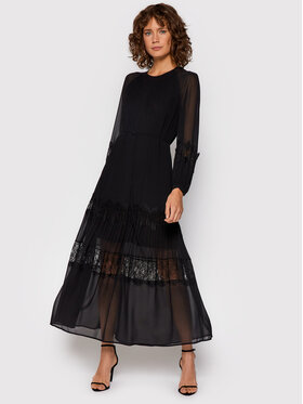 TWINSET TWINSET Sukienka codzienna 212TT2390 Czarny Regular Fit