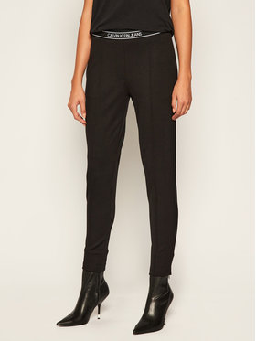 Calvin Klein Jeans Calvin Klein Jeans Παντελόνι υφασμάτινο J20J214300 Μαύρο Slim Fit
