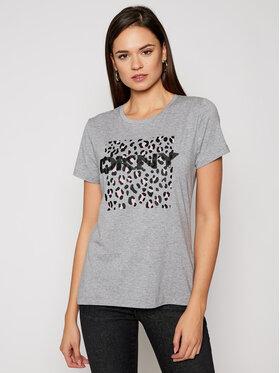 DKNY DKNY T-shirt P0JWTDNA Grigio Regular Fit