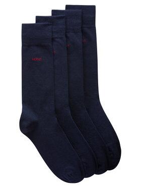 Hugo Hugo Súprava 2 párov vysokých pánskych ponožiek 2P Rs Uni Cc 50448250 Tmavomodrá