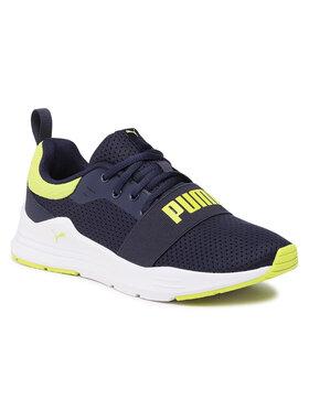 Puma Puma Sneakersy Wired Run Jr 374214 07 Granatowy