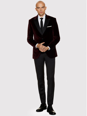 Vistula Vistula Sako Savoy De Lux VI9678 Bordó Super Slim Fit