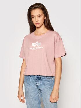 Alpha Industries Alpha Industries T-Shirt Basic T Cos 116050 Różowy Oversize