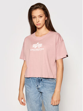 Alpha Industries Alpha Industries T-Shirt Basic T Cos 116050 Růžová Oversize