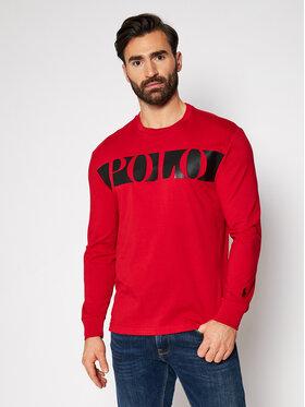 Polo Ralph Lauren Polo Ralph Lauren Marškinėliai ilgomis rankovėmis Lsl 710828215003 Raudona Classic Fit